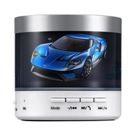 Wholesale Mini Speaker Mp3 Cartoon - Portable V3.0 Bluetooth Speaker Mini MP3 Player LED Super Light Blue Car Subwoofer 2017 New Arrival Wholesale Retail for Computer Smartphone