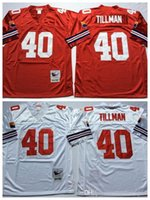 Wholesale Top Sale Cheap Jerseys - Throwback 40 Pat Tillman Jersey Men Home Red Road Away White Pat Tillman Retro Jerseys Cheap All Stitched Top Quality On Sale