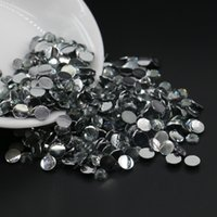 Wholesale 6mm Diamond Bead - Non hotfix glue on resin half round beads , nail arts diy rhinesone, Black Diamond Resin Flatback Rhinestone All Size 3mm,4mm,5mm,6mm