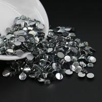 diamante redondo de 6mm venda por atacado-Não cola em correcção em resina meia redonda pérolas, nail art diy rhinesone, resina de diamante preto Flatback strass todo o tamanho 3mm, 4mm, 5mm, 6mm