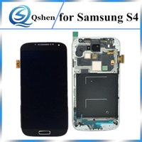 High Copy A +++ Grade LCD para Samsung Galaxy S4 LCD Display Screen Digitizer Assembly Substituição com Frame 100% Testes