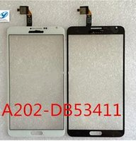 Wholesale- Blanc / Noir New China Note3 A202-DB53411 Écran tactile capacitif Digitizer en verre Re