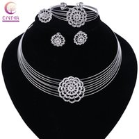 Wholesale cheap cubic zirconia earrings - New Multi Layer Maxi Necklace&Pendant Metal Vintage Chokers Hot Sale Cheap Collar Statement Women Collier Earing Ring Bracelet