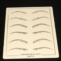 Wholesale Professional Tattoo Practice Skin - 5pcs lot Permanent Makeup Eyebrow Tattoo Practice Skin Training Skin Set For Beginners Professional Tattoo accesories