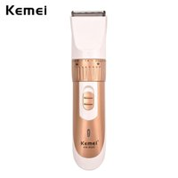 Wholesale Mens Cordless Shavers - brush Kemei Professional Cordless Mens Babys Beard Clipper Trimmer Shaver Hair Cutting kit On Sale Shaver Beard Trimmer RCS73GQ47