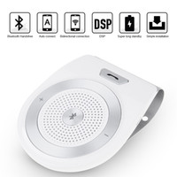 Wholesale Bluetooth Multipoint Speakerphone Car Kit - Handsfree Bluetooth Car Kit For iPhone Speakerphone Noise Cancelling Multipoint Wireless Clip On Sun Visor Portable Car Audio