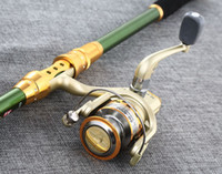 Wholesale High Carbon Spinning Fishing Rods - FISHING ROD AND REEL SET Rod Combo Lure Fishing Reels Spinning Reel Lure Fish Tackle Rods Cheapest High Carbon Ocean Rock 360cm