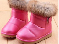 Wholesale Winter Rubber Boot Brands - 2017 Winter Brand Designer White + Red Size 21-30 Rubber Soles Ankle Children Boots   Shoes Kids Shoes For Girls Boys Sonw Boots