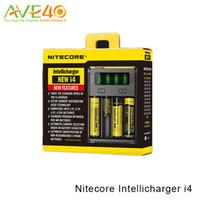 Wholesale nitecore aa - Nitecore Intellicharger NEW i4 Charger Universal Vaping Charger Compatible with 18650 26650 16340 10440 AA AAA Battery 100% Original