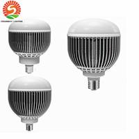 Wholesale Fan Globe - 45W 60W 120W LED Bulbs with input Cooling Fan High Bright E27 or E40 Base AC85 to 265V led bulbs Light CE ROHS