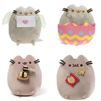 "Wholesale Dolls Sales - Hot Sale 4 Style 6"" 15cm   9"" 23cm Pusheen Sushi Angel eggshell Potato Chips Cat Plush Doll Stuffed Animals Christmas Toys"
