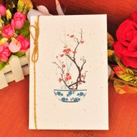 Wholesale China wind everlasting longing for each other classical poetry postcards archaic retro blessing card card poem box