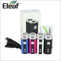Wholesale Ego Mods Vv - Eleaf istick 30w 20w 10w Box Mod Starter Kit VW VV 2200mah 1100mah Battery OLED Screen Sub Ohm with istick Metal Ring for eGo 510 Atomizers
