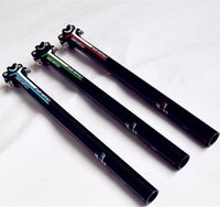 Wholesale Cheap Seatpost - Cheap 3 Color Full Carbon Bicycle Seat Post 3K Matte 27.2 30.8 31.6 mm Light Weight Bike Parts 350 400 450mm Bicycle Seatpost