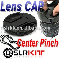 Wholesale center filter - Wholesale-82mm Center Pinch Snap on Front Cap for Lens   Filters