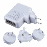Wholesale EU AU US UK Plug Port USB Wall Charger A W Portable Travel Charger Power Adapter For Iphone Ipad Samsung HTC