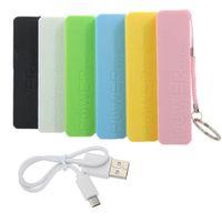 cargador de banco usb externo al por mayor-Perfume colorido Banco de alimentación USB cargador de batería de reserva externa el Powerbank Mini energía móvil para todo el teléfono elegante