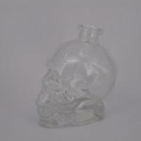 Wholesale Crystal Skulls For Sale - Skull 750ml glass bottles with cork for vodka wine cheap crystal skull head Whisky transparent skull bottle hotting sale