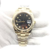 Wholesale Golden Movement - New Mens Watch Date Automatic Movement Mechanical Golden Stainless Steel Sapphire Glass Original Clasp AAA Quality Men Watches