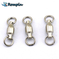 Wholesale Heavy Swivels - Rompin 10Pcs lot Heavy Duty Ball Bearing Stainless Steel Fishing Rolling Swivels Connector Hook Solid Rings Size 0 1 2 3 4 5#
