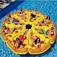tube gonflable de bain de flotteur achat en gros de-Swim Fun Gonflable Siège Flottant Pizza Flotteur Tranche Gonflable Plage Lounger Fun Flotteur Piscine Air Tubes Jouet de l'eau