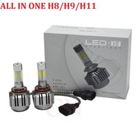 Wholesale Ford Headlamps - H11 LED Car Headlight COB 72W Led Fog Light Bulb 6500K 8000lm Auto Headlamp for Audi BMW Ford Toyota VW Honda Chevrolet
