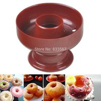 Wholesale Doughnut Mold - Wholesale- A2 Doughnut Maker Cutter Mold Fondant Cake Bread Desserts Bakery Mould Tool T1114 P