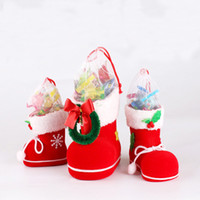 Wholesale Red Plastic Gift Bags - Christmas Stocking Bags Candy Gift Bag Xmas wedding Party Supplies hot sale Christmas Decorations Socks Candy Bags Product Code : 90 - 2003