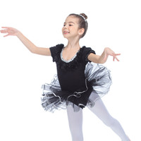 Wholesale Girls Ballet Dance Tutu - Ballet Dance Dress Puffy Sleeve Cotton Lycra Leotard Soft Tulle Skirt for Girls and Ladies Costume Tutus Full Sizes 10 Colors Available