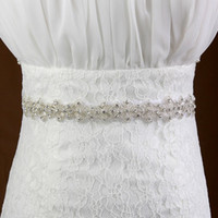 Wholesale Sparkling Rhinestone Sashes - New Sparkling Organza Crystals Rhinestones Bridal Sashes 2017 Beaded Wedding Dress Belt Cheap Wholesale Wedding Accessores In Stock