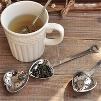 Wholesale Tea Strainers Love Heart - Hot Amazing Love Heart Shape Style Stainless Steel Tea Infuser Teaspoon Strainer Spoon Filter Kitchen Tool