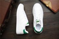 zapatos de deporte de los hombres grandes al por mayor-Nueva llegada rayas de cebra Stan Shoes For Men And Women Zapatillas de moda Casual Sport Leather Lovers Smith Zapatos Zapatos Mujer tamaño grande 36-44