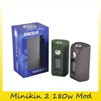 Wholesale Genuine E Cig - Authentic Asmodus Minikin 2 180W TC Mod E Cigarette with GX-180-HT Chip Touch Screen Box Mod Vape E-Cig 100% Genuine 2207035