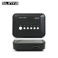 Оптово-1080P Full HD HDD Media Player ВХОД SD / USB / HDD Выход HDMI / AV / VGA / AV / YPbPr Поддержка DIVX AVI RMVB MP4 H.264 FLV MKV Музыка Фильмы