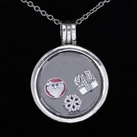Wholesale Authentic Pandora Christmas - Authentic 925 Sterling Silver Necklace Christmas Wonder Petite Charm Pack Locket Neckalce Compatible With Pandora DIY Jewelry HKA4301