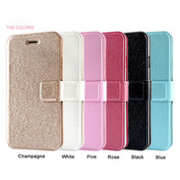 Wholesale Iphone 5s Stand Case - Silk Texture PU Leather Wallet Case Stand Card Slots Phone Cases For iPhone 4S 5S 6S 6 plus 7 7 plus Flip Cover