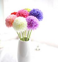 ingrosso fiore artificiale ortensia verde-24pcs verde palla di cipolla fiore di ortensia artificiale piccolo verde palla di cipolla decorazione della casa fiori Nuovo arrivo