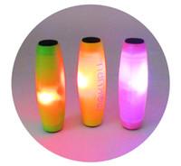 kunststoff-lichtstock spielzeug großhandel-BFFA206 Light Stick Zappeln Rollver Mokuru Hand Spinner Spielzeug Dekompression Desktop Flip Kunststoff Licht Spielzeug Hand-Eye Trainer für Kinder Erwachsene