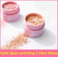 Wholesale 2017 Newest Kylie Jenner The Birthday Collection Queen King versions Ultra Glow highlighter Loose Powder foundation