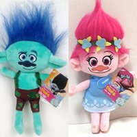 Wholesale Inflatable Plush Toys - 2016 The Newest Movie Trolls Plush Toy Poppy Branch Dream Works Stuffed Cartoon Dolls The Good Luck Trolls Christmas Gifts