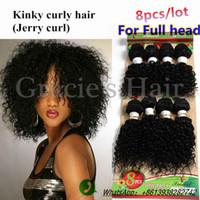 Wholesale Hair Full Head Curly Weaves - 2017 new arrival full head use brazilian hair weave bundles afro kinky hair human kinky curly brazilian hair weave bundles deep curly