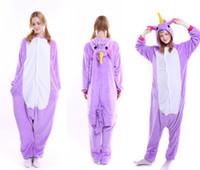 Wholesale Onepiece Woman - Fluffy Unicorn Onesie Pajamas Adult Cute Newcosplay Costumes Footed Pyjamas Onepiece For Women Plus Cheap Unicorn Fleece Pajamas For Juniors