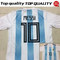 Wholesale Messi Jersey Xl - 2018 world cup Argentina Soccer Jersey 2018 Argentina Home Blue soccer Shirt Messi Aguero Di Maria football uniform