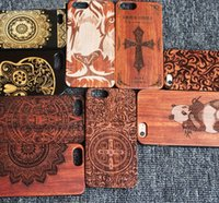 Wholesale s5 back case online – custom Luxury Real Wood Case For Iphone X s plus plus Phone Cover Wooden Carving Cases Hard Back Shell For Samsung S8 plus s6 s5 s7 edge