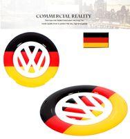 Wholesale Volkswagen Steering Wheels - Germany Scotland Flag VW steering wheel Sticker Decoration For Volkswagen Golf MK6 MK7 Polo Beetle Touran Passat CC