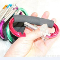 Wholesale Skate Shape - Sponge Large Size Colorful Aluminum Alloy D Shape Climbing Button Carabiner Keychain outdoor roller skating shoes buckle supermarket hook
