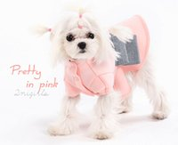 Wholesale Bandanas Wholesale Extra Large - Korean style lace New pet clothes lady pink fashion Small pet Dog cat cute style Miniskirt sheer Free Shipping 4-313