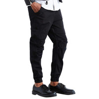 Wholesale Waxed Coated Jeans - Wholesale-High Quality Mens Ripped Wax Coated Black Biker Jeans Slim Fit Motorcycle Jeans Men Vintage Distressed Denim Jeans Pants DM#6
