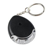 Wholesale Remote Key Chain Finder - Wholesale- New Overvalue Portable LED Easy Key Finder Locator Find Lost Whistle Keys Chain Remote Electronic LED Sound Control Black