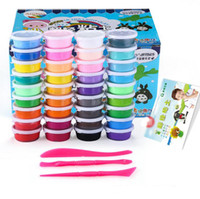Wholesale Set Colorful Children Unisex - 36 Colors  set Plastic clay Colorful Silly Putty Plasticine Super Light Clay Educational Game Toys the gift to the children
